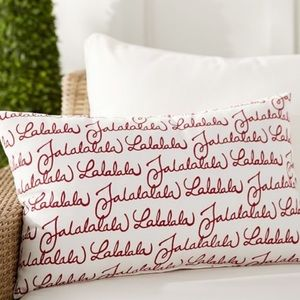 Pottery Barn Fa La La Christmas Lumbar Pillow Sham